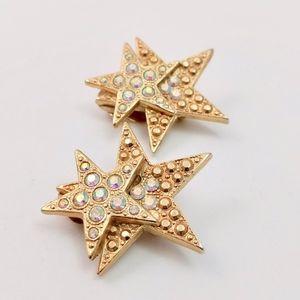 Kirks Folly Star Studded Rhinestone Earrings